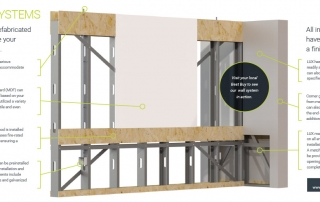 Prefabricated Wall Technical Drawing 1