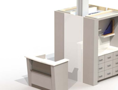 Compact Reception Desk